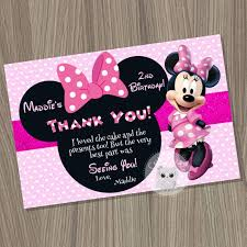 minnie mouse thank you cards minnie mouse thank you card minnie mouse birthday minnie