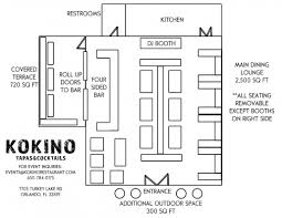 Lounge Floor Plan Orlando Corporate Event Venue Kokino Restaurant