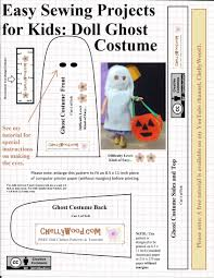 sew a felt halloween ghost costume for 1 12 or 1 18 scale dolls