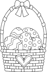 free printable easter egg coloring pages easter basket coloring page free easter basket online coloring