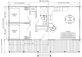 One Room Cottage Floor Plans Floor Plans For Cabins 16 U0027x34 U0027 With Loft Plus 6 U0027x34 U0027 Porch Side