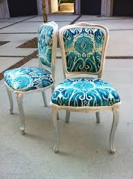 Change Upholstery On Chair by Ikat French Louis Xvi Dining Chairs Pair Burlap Upholstered