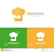 chef hat and like logo combination kitchen and best symbol or