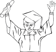 coloring pages graduation coloring home
