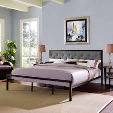 Steel Platform Bed Frame King Modway King Upholstered Platform Bed Colors