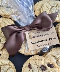 favor cookies belgian chocolate sea salt cookies wedding favor raspberry