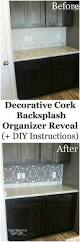 Cork Backsplash Tiles by Decorative Cork Backsplash Organizer Reveal Life Should Cost Less
