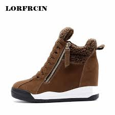 s boots wedge 2017 genuine leather s casual shoes height increasing