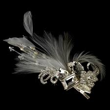hair brooch feather bridal side hair combs