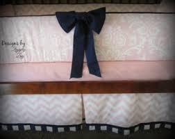 Pink And Brown Damask Crib Bedding Damask Crib Bedding Etsy