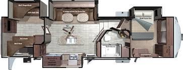 Komfort Rv Floor Plans by Denali Travel Trailers U0026 Fifth Wheels Model 361bhs Floorplan