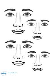 blank face templates with face parts autism tasks pinterest