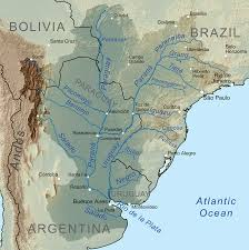 Physical Map Of South America Rivers by