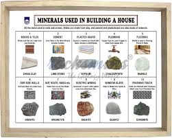 minerals used in building a house set 10 bu10pm bu10ps