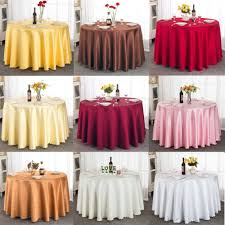 free shipping polyester satin wedding tablecloth jacquard round