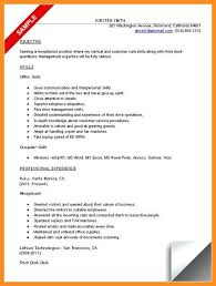resume sample for front desk receptionist resume for receptionist