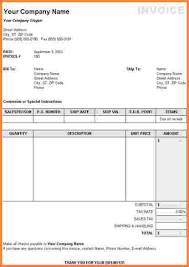 6 editable invoice template excel invoice template
