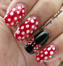 minnie mouse nail art designs