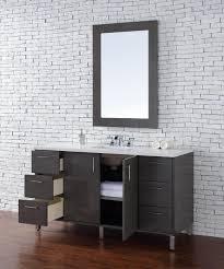 abstron 60 inch silver oak finish single sink modern bathroom
