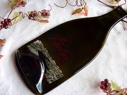 wine bottle cheese plate slumped wine bottle cheese plate from lake chelan winery bottle