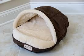 Hooded Dog Bed Armarkat Slipper Shape Pet Bed Mocha Beige Chewy Com