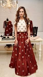 silk skirt maroon silk skirt and crop top fashionvibes