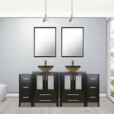 small kitchen sink and cabinet combo details about 72 bathroom vanity black with vessel sink small cabinet set glass faucet combo