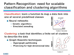 pattern classification projects pattern recognition need for scalable classification and clustering