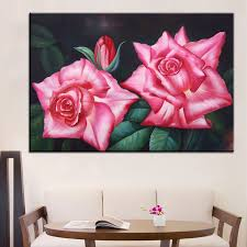 best dpartisan print no 269 flower wall painting amazing oil