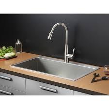 X Kitchen Sink - fabulous overmount sink kitchen ruvati rvh8000 drop in overmount