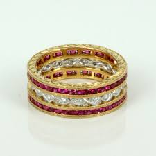 ruby eternity ring ruby and diamond eternity ring