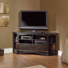 cherry wood corner bookcase furniture interesting sauder tv stand for home furniture ideas