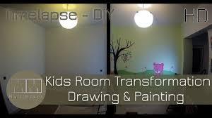 Kids Room Kids Room Transformation Timelapse Drawing U0026 Painting Full Hd
