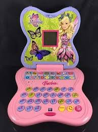 pink barbie mariposa laptop computer electronic handheld game