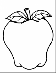 spectacular red apple coloring page with apple tree coloring page