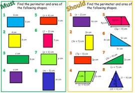 perimeter u0026 area with algebra by stacy3010 teaching resources tes