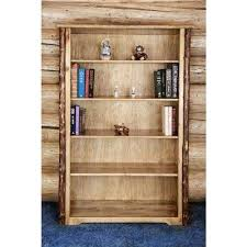 rustic bookcases home office furniture the home depot