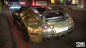 bugatti gold and white golden bugatti veyron grand sport on the roads of london youtube