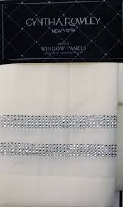 cynthia rowley pair of window curtain panels cream off white