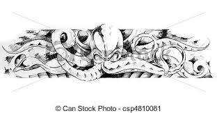 stock photography of sketch of tatto art octopus sketch of