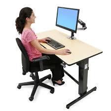 Ergotron Sit Stand Desk Ergotron Workfit D Sit Stand Desk 24 271 928 Birch Surface