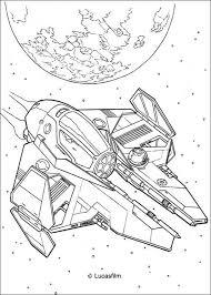 Coloriage de Star Wars du vaisseau spatial de Anakin Skywalker Un