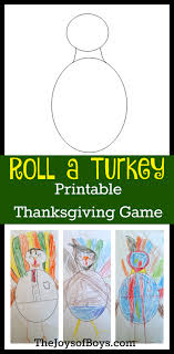 roll a turkey printable thanksgiving