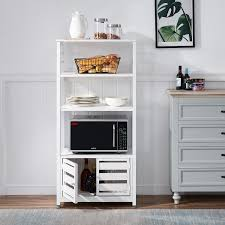 kitchen pantry storage cabinet microwave oven stand with storage vecelo 5 tiers bakers rack microwave oven stand for kitchen bathroom kitchen floor storage cabinet w doors and shelves white walmart