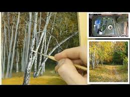 71 how to paint silver birch trees michael james smith youtube