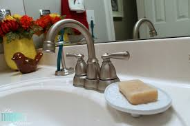 Bathroom Faucet Ideas Colors Traditional Americana Guest Bathroom Makeover The Turquoise Home
