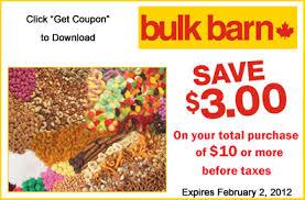 Bulk Barn Hours Ottawa Printable Coupon 3 Off Your Bulk Barn Purchase Of 10 Or More