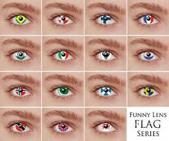 wholesale color contact lens flag lens buy funny lens color