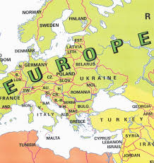 a map of europe with countries european countries in world map europe map countries labeled image