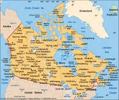 map if canada canada map